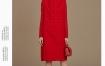 Marisfrolg/玛丝菲尔红色连衣裙女装2019冬季新款中长款宽松裙子