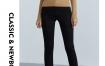 Marisfrolg/玛丝菲尔黑色高腰牛仔裤女装2020冬修身铅笔裤长裤子