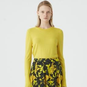 Marisfrolg/玛丝菲尔羊毛2020年冬季黄色套头毛针织衫毛衣女