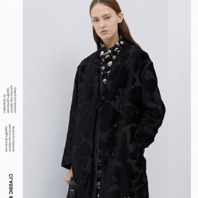 玛丝菲尔白鹅绒羽绒服女中长款2020春季新款拼接外套
