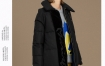 Marisfrolg玛丝菲尔2019秋冬季新款黑色白鹅绒羽绒服女中长款外套