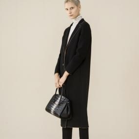 Marisfrolg玛丝菲尔女装时尚欧美长款纯羊毛大衣毛呢外套