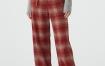 Marisfrolg玛丝菲尔羊毛2020年冬季新款格子红色宽松休闲裤阔腿裤