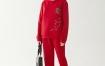 Marisfrolg/玛丝菲尔2020年秋季新款红色时尚灯笼裤休闲裤长裤子