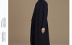 玛丝菲尔冬装新款女装时尚气质纯羊毛大衣女休闲时尚深蓝色外套