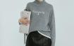 Marisfrolg/玛丝菲尔羊毛2020年冬季新款女装加厚灰色毛衣针织衫