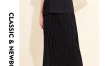 玛丝菲尔时尚女装2019春季新款黑色优雅中长款高腰半身裙长裙子
