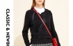 Marisfrolg玛丝菲尔2019新款女装春装套头时尚黑色毛衣针织衫女