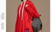 Marisfrolg玛丝菲尔红色卫衣女装2019冬季新款连帽中长款绣花上衣