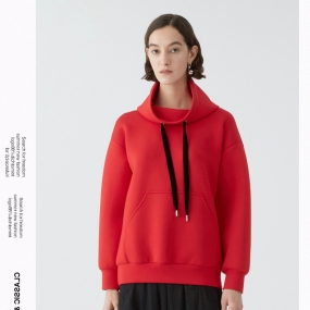 Marisfrolg玛丝菲尔卫衣女装2020春新款长袖连帽宽松套头上衣