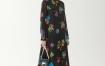 Marisfrolg/玛丝菲尔2020新款长袖时尚连衣裙裙子印花长裙