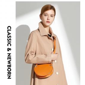 Marisfrolg玛丝菲尔2019春季新款专柜同款中长款风衣单排扣纯棉