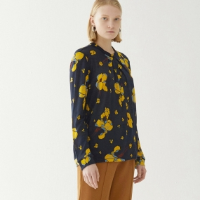 Marisfrolg/玛丝菲尔羊毛2020年秋季新款薄长袖碎花毛衣毛针织衫