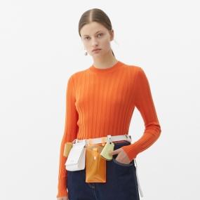 Marisfrolg玛丝菲尔羊毛2021年春季新款女装圆领修身打底毛针织衫