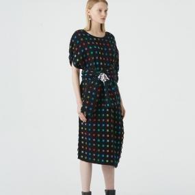 Marisfrolg玛丝菲尔羊毛2020年冬季新款宽松中长款时尚连衣裙裙子
