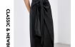 Marisfrolg玛丝菲尔羊毛2019秋季黑色中长款时尚气质半身裙裙子