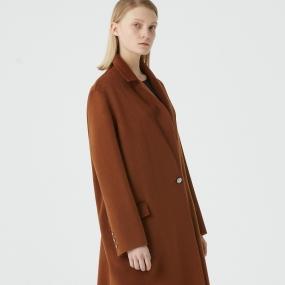 Marisfrolg玛丝菲尔100%山羊绒2020冬新款中长款毛呢外套呢子大衣