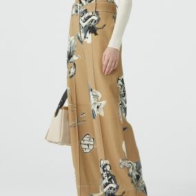 Marisfrolg玛丝菲尔羊毛2020年冬季新款宽松时尚休闲阔腿裤直筒裤